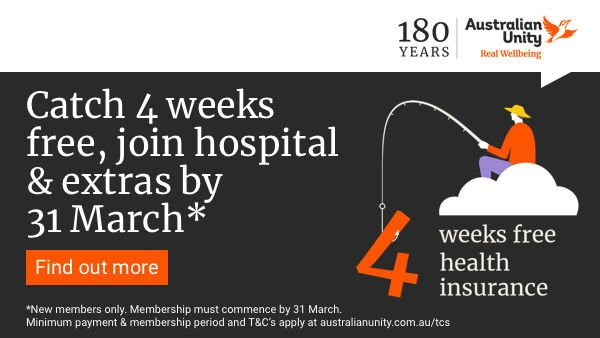 Catch 4 weeks free when you join hospital & extras by 31 March*